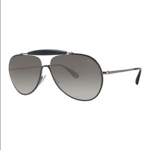 Black Prada aviators pilot sunglasses
